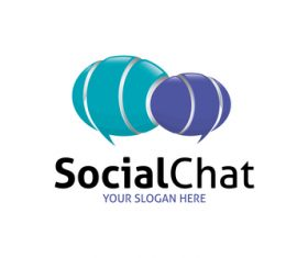 Logo social chat vector
