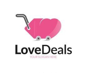 Love deals logo vector