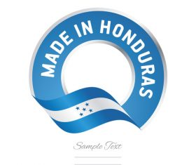 Made in Honduras flag blue color label button banner vector