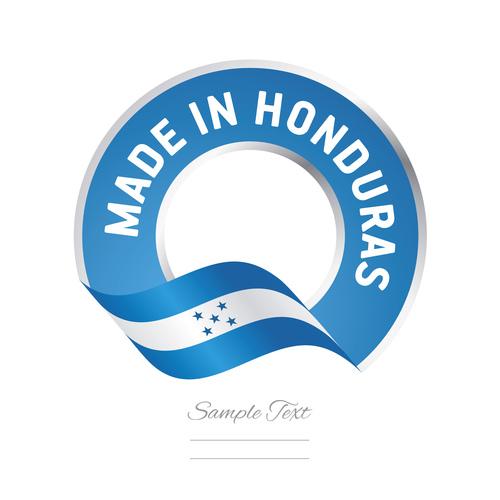 Made in Honduras flag blue color label button banner vector