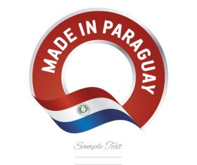 Made in Paraguay flag red color label button banner vector