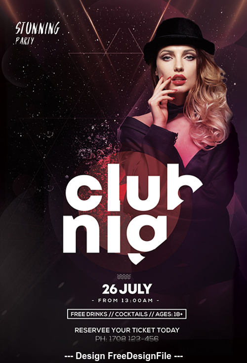 Main Files Club and Party Flyer PSD Template