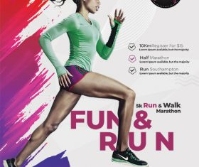 Marathon Event Flyer PSD Template