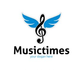 Music times logo vector