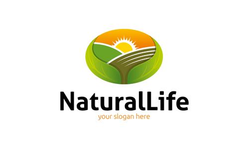 Natural life logo vector