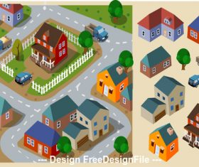 Neighborhood cartoon vector