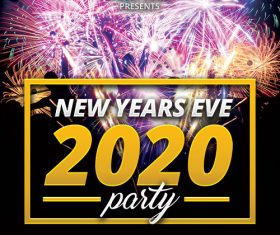 New Years Eve 2020 Flyer PSD Template
