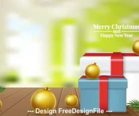 New year gift box vector