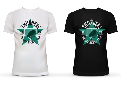 Nw team black and white t shirt vector