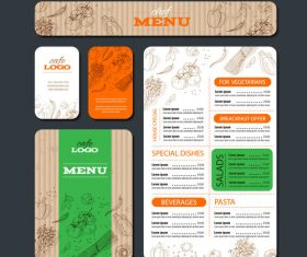 Organic vegetable banner and brochure vector