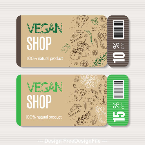 Organic vegetable banner vector