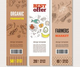 Organic vegetable best offer banner vector