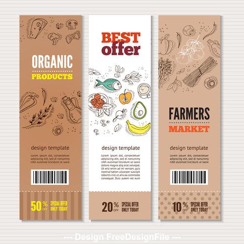 Organic vegetable best offer banner vector