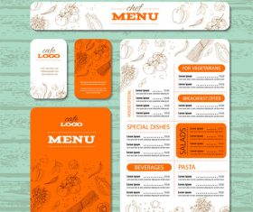 Organic vegetable menu banner vector