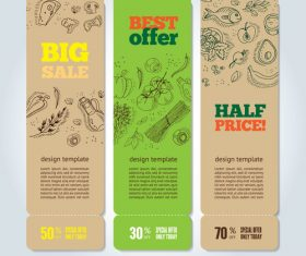 Organic vegetable promotion banner vector