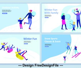 Outdoor activity vector