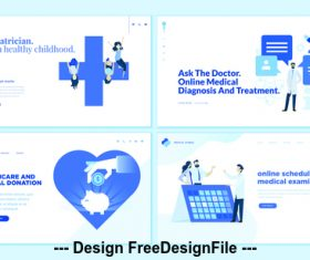 Pediatrician for a healthy childhood vector
