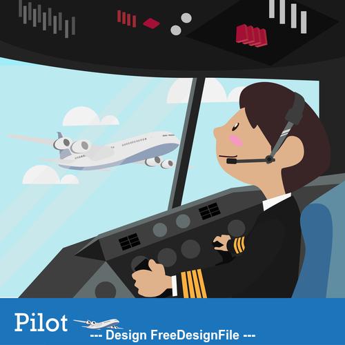 Pilot captain vector