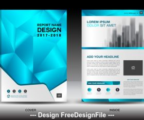 Polygon background flyer template vector