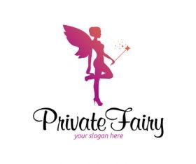 Pravite fairy logo vector