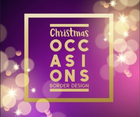 Purple virtual background christmas card vector