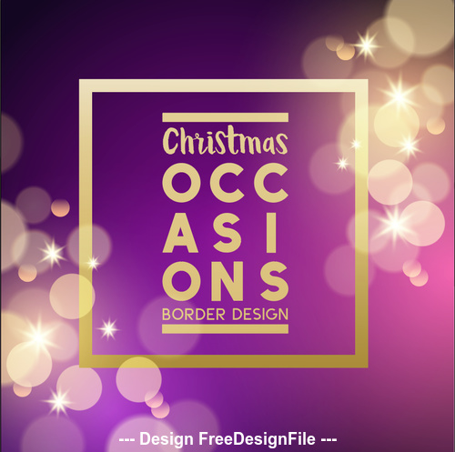 Purple Virtual Background Christmas Card Vector Free Download