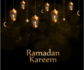Ramadan Kareem background decoration vector
