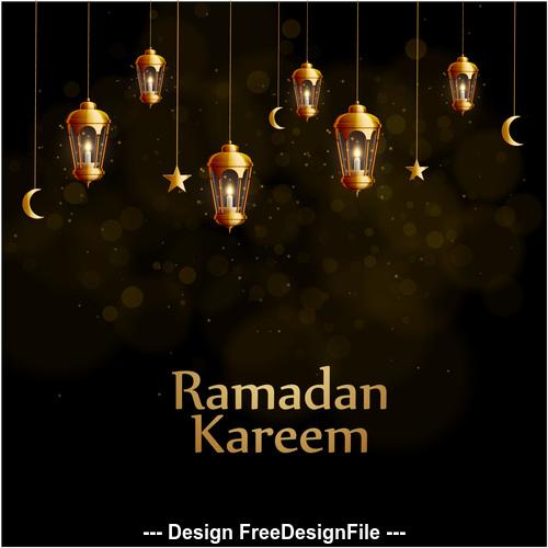 Ramadan Kareem background decoration vector