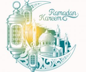 Ramadan Karim vector color illustration