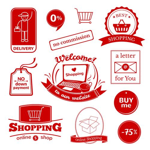 Red restaurant logo vector