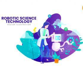 Robotic science vector illustration