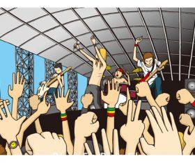 Rock fest vector