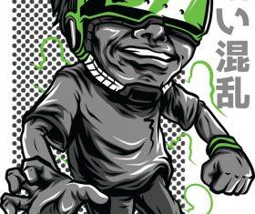 Rocket kid T-Shirt design vector