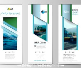 Roll-up banner design vector