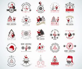 Santa and christmas tree icon vector