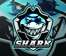 Shark mascot logo vector design