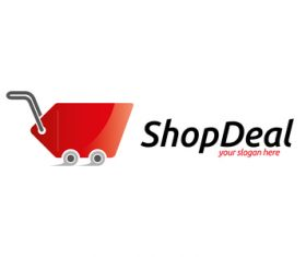 Shop deal logo vector