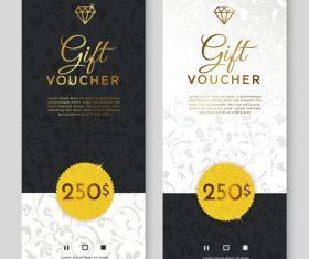 Silver gift voucher vertical