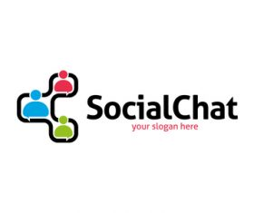 Social chat logo vector