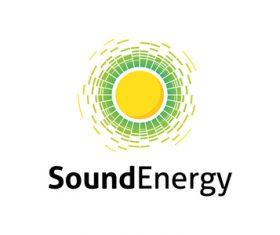 Sound energy logo vector