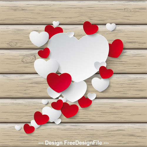 Speech Bubble Hearts Wood vector