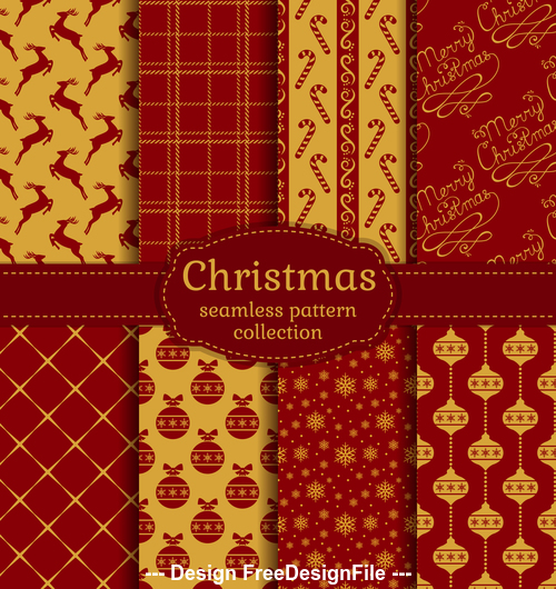 Square seamless christmas pattern vector