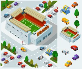 Stadium cartoon vector