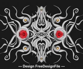 Steel gothic pattern vector 01