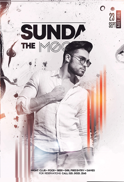 Sundays Vibe Flyer PSD Template