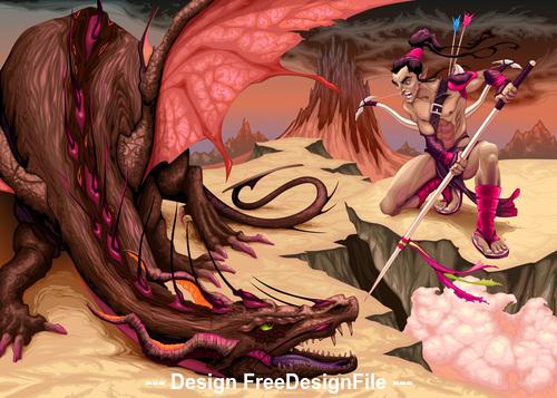 Surrender dragon comics vector