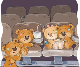 Teddy bear party cartoon vector