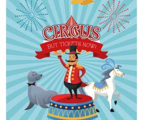 Tour show circus poster vector