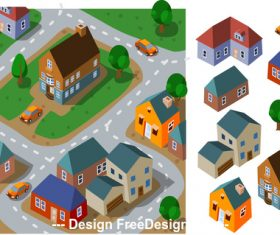 Town cartoon vector