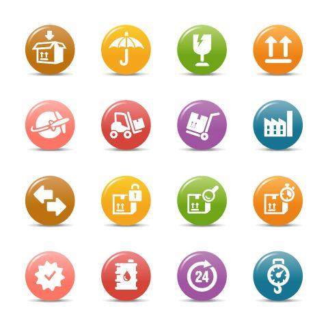 Transport glossy buttons Icon vector